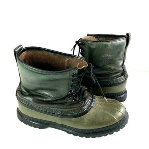 Sorel Kaufman Mark V Green Duck Snow Rubber Boots